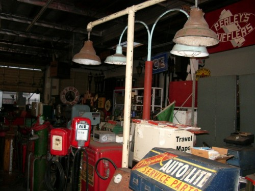 Double Head Vintage Gas Pump Light