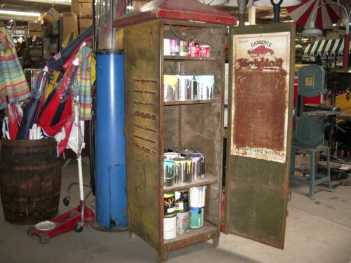 Rusty Metal Storage Cabinet
