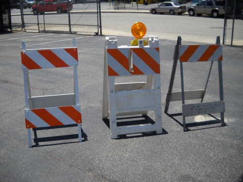 A-Frame Construction Barricades.