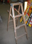 4ft Vintage Wooden Step Ladder
