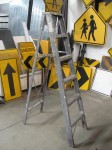 6ft Aluminum Aged Painter`s Ladder