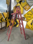 6ft Red Wooden Painter`s Ladder
