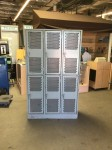 Large Wire Mesh Gray Lockers