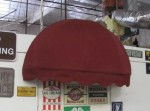 Small Rounded Burgundy Awning
