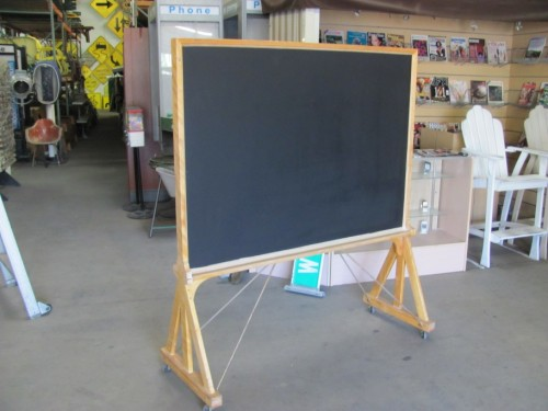 Double Sided Chalkboard on Wheels (Black Side)