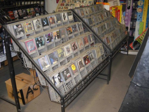 Right Angled Metal Media Racks. (2 pictured w/CD`s, dimensions are for one rack)