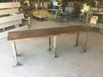 Long Wooden Buther Block Work Bench