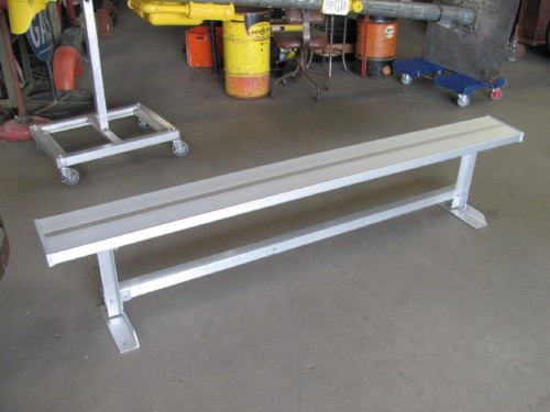 Aluminum Backless Sideline Benches #3