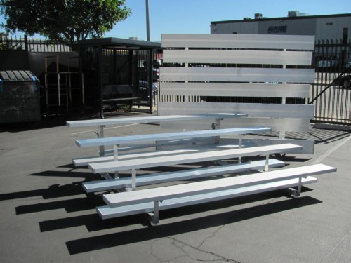 4 Tiered Aluminum Bleachers on Wheels