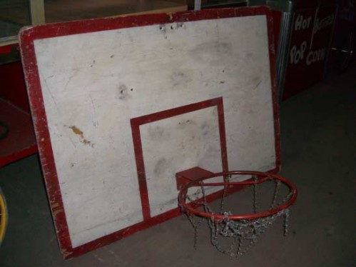 Basketball Hoop and Backboard - Wood Wall-Mount
