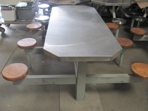 Stainless steel prison table
