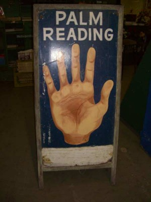 "Double Sided A-Frame ""Palm Reading"" Sign"
