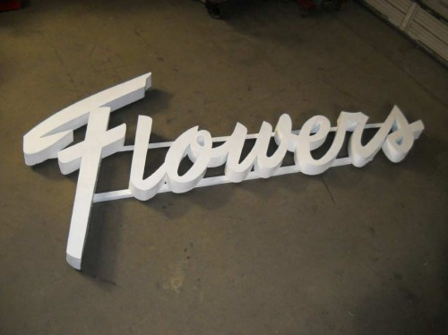 """Flowers"" Sign"