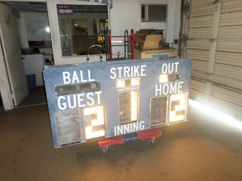 Light-Up Baseball Scoreboard