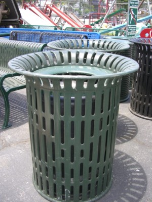 Rubber Coated Flare Top Trash Cans