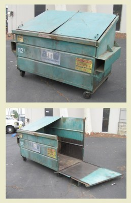 Large Green Dumpster With Side Door