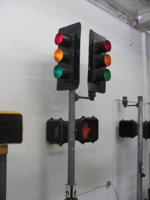Traffic Lights with Crosswalks (Black with Double Heads)