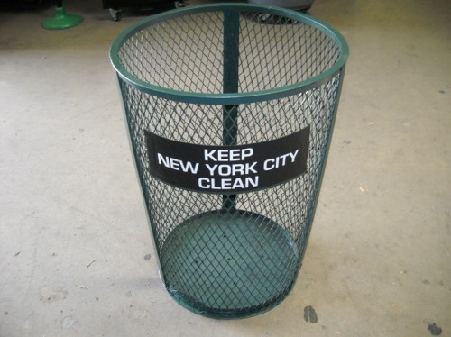 Wire Mesh Trash Cans with City Name