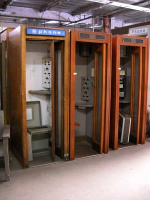 Phone Booths Vintage Wooden
