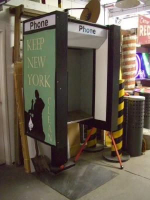 "Phone Booths ""Keep NY Clean"""