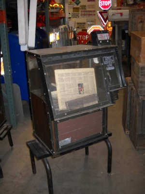 Newspaper Dispenser with Legs- vintage