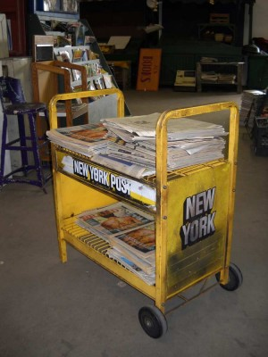 Newspaper Rack- vintage New York Post
