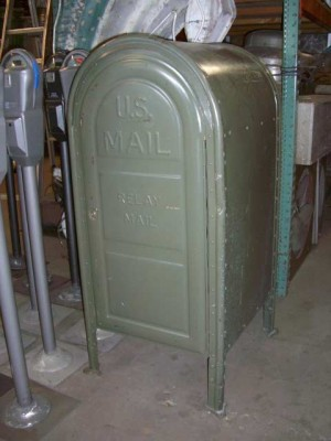 Green Postal Relay Box